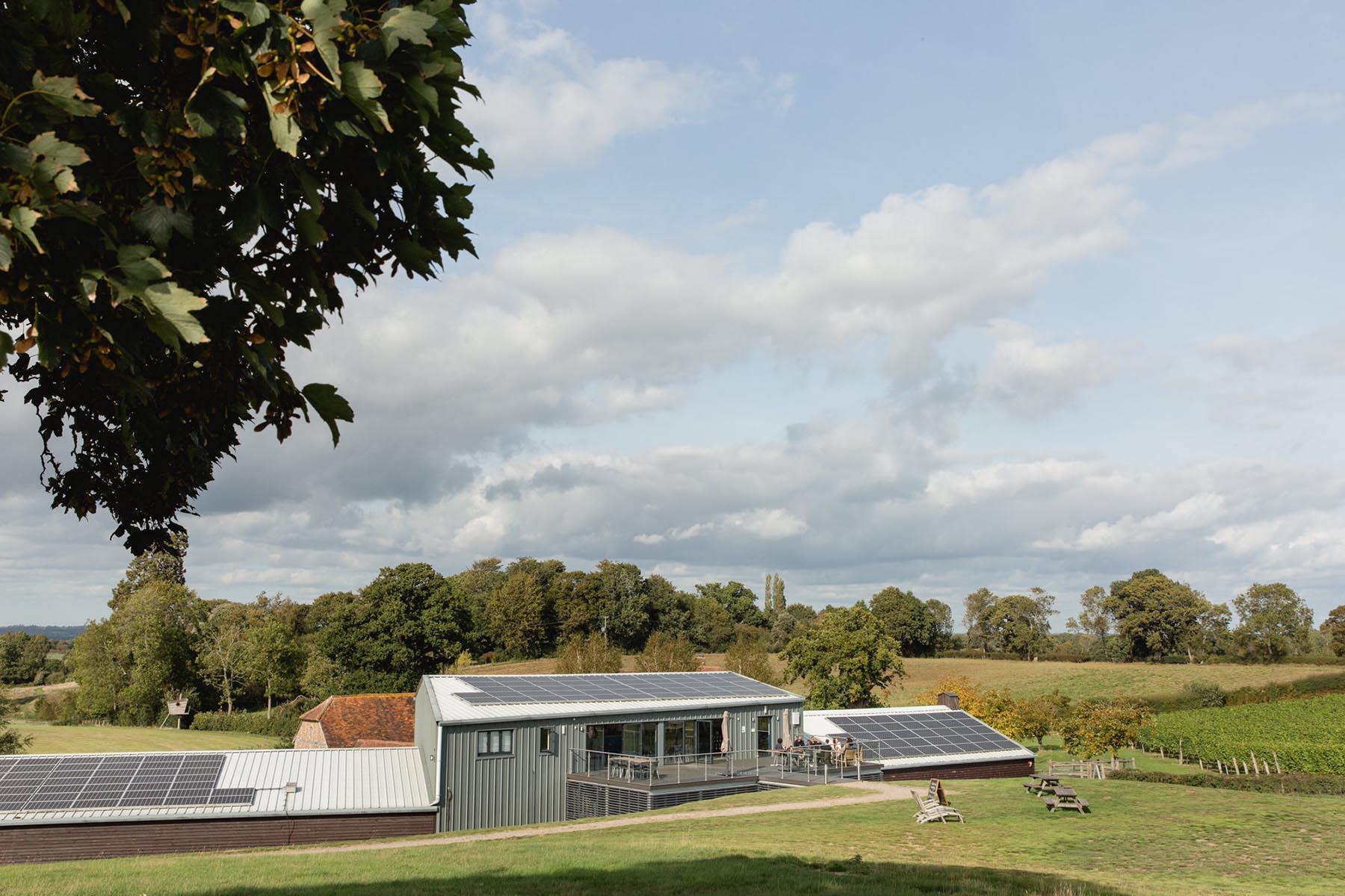 WIne Tasting Room - Solar Panels - Albourne Estate - Sussex Vineyard