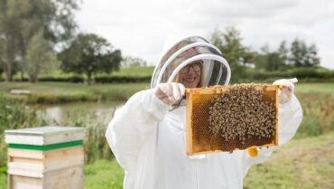 62-Lady-Holding-Bees-on-Frame.jpg
