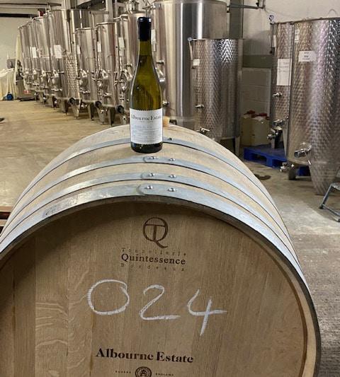 Barrel 24 Chardonnay on the barrel