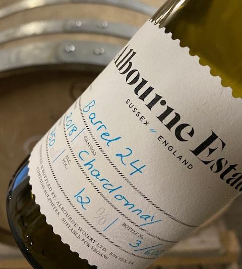 Barrel 24 Chardonnay label