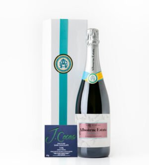 Albourne Estate Valentine Gift Sussex Rosé de Noirs with J.Cocoa Gran Nativo Blanco