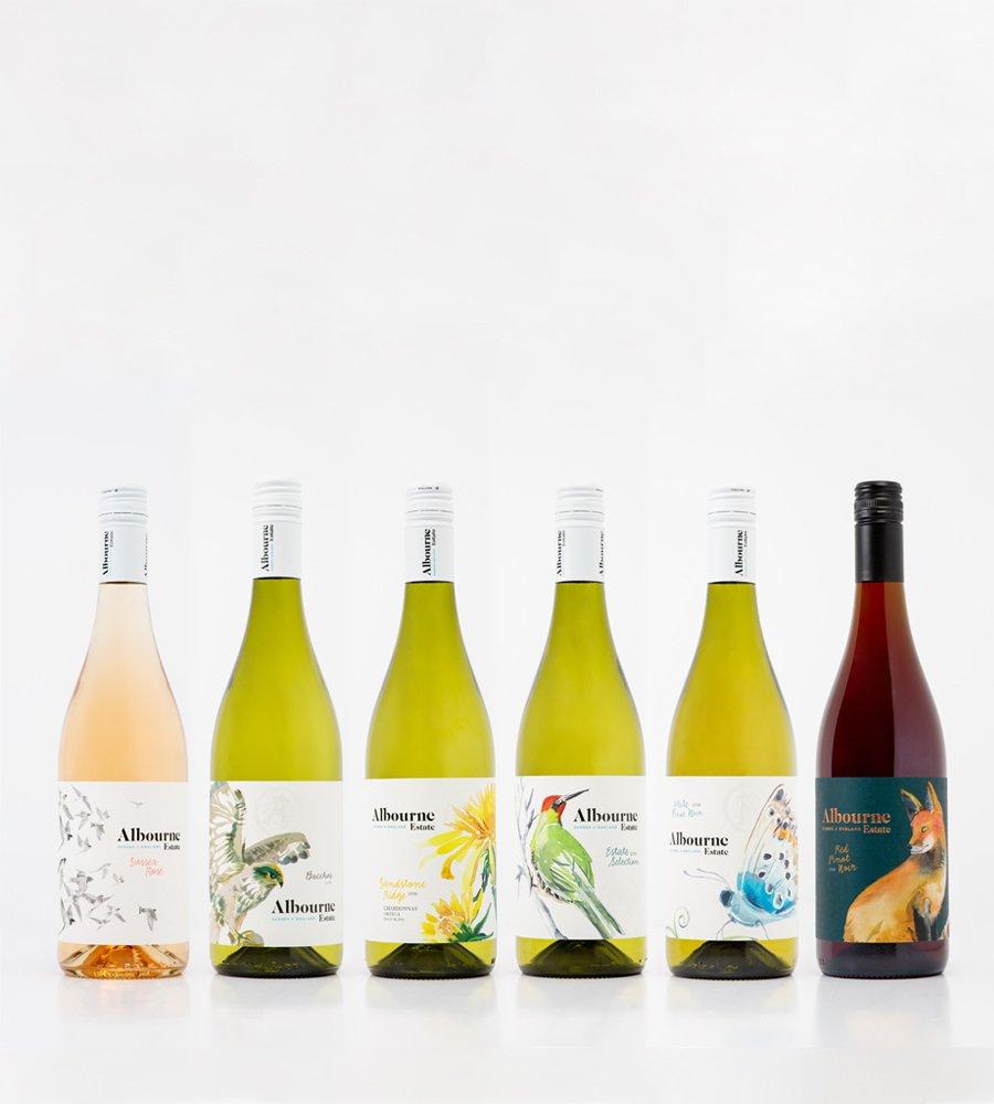 Albourne Estate Still English Wine Bottles - Bacchus, Pinot Noir, Rose, Chardonnay, Pinot Blanc