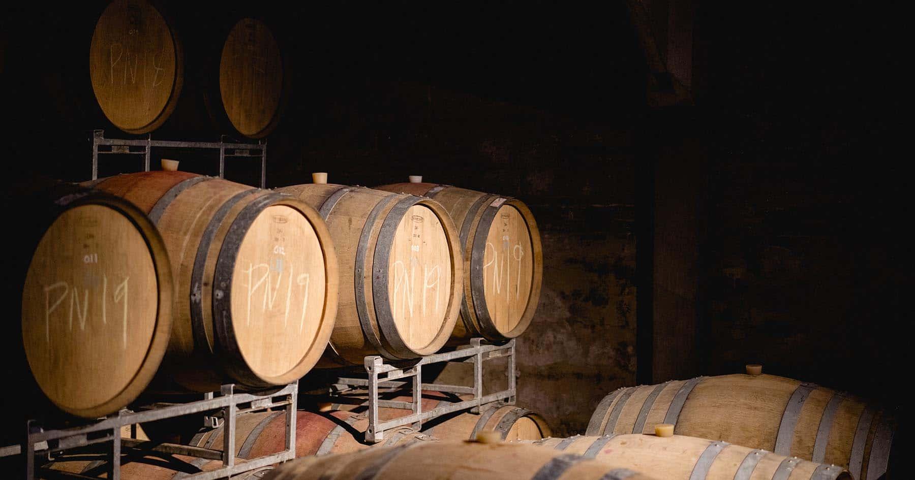 Oak Wine Barrels - Albourne Estate - Sussex VineyardWine Barrels