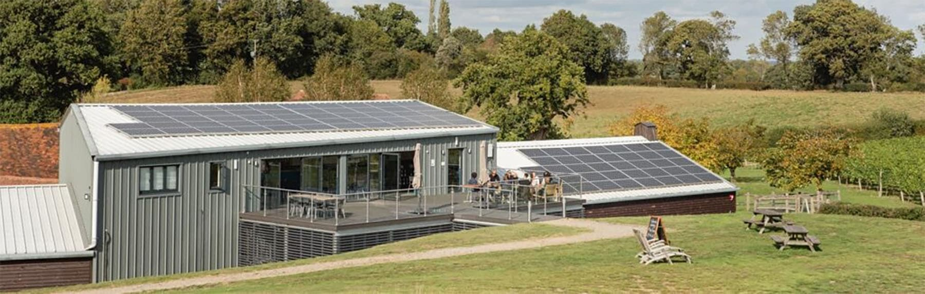 Albourne Estate - About Us - Solar panels on our tasting rooms