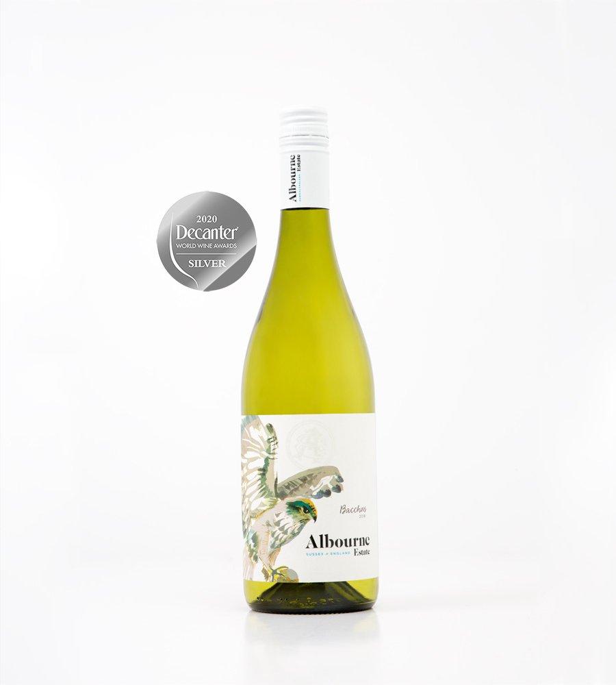 Albourne Estate Bacchus 2018 with Silver Decanter World Wine Awards 2020