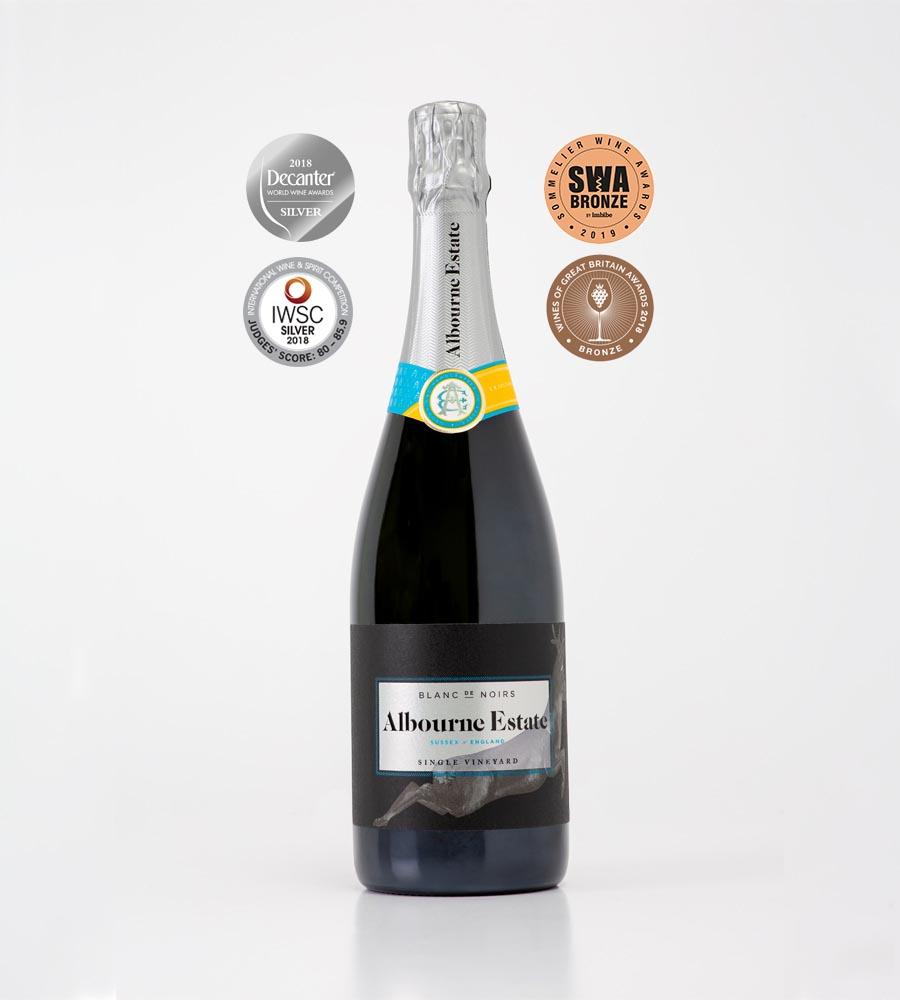 English Sparkling Wine - Blanc de Noirs - Albourne Estate
